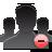 user, group, delete icon