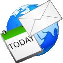 email, earth, world, calendar icon