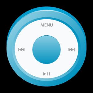 blue, ipod, badge icon