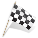 goal, flag, checkered icon
