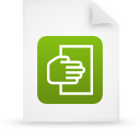 green, paper, document, file icon