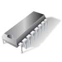 chipset, attach, dip, circuit, pin, chip icon