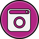 media, social, instagram icon