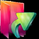 Aurora, Folders, texto, Links icon