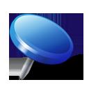 drawingpin, pin, attach, blue, location icon