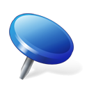pin, blue, location icon