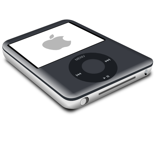 nano, black, ipod icon