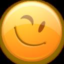 wink, smiley, face, emot, emotion icon