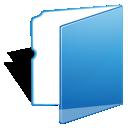 Blue, Folder, Light icon