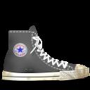 gray, dirty, converse icon