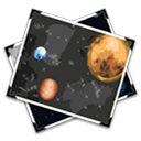 space, vectorized, exploration icon