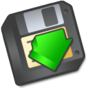 or, save, floppy, to, as, save as icon