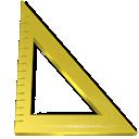 measure, triangle, ruler icon