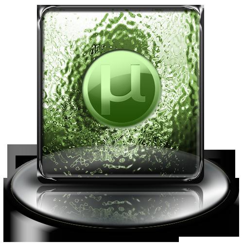 green, classic, u torrent icon