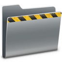 caution,folder icon