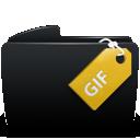Black, Folder, Gif icon