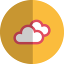 cloudy day folded icon
