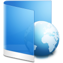 Folder Blue Web icon