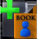 bookmark, plus, listing, add, list icon