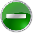 green, circle, minus icon