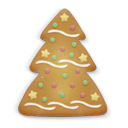 christmas cookie tree icon