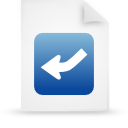 file, document, paper, blue icon