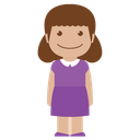 purple, female, girl, avatar, child, person, kid icon