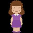 purple, female, girl, avatar, child, person, kid icon