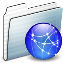 network,folder,graphite icon
