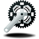 bike, mountain, crankset icon