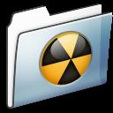 Burnable, Folder, Graphite, Smooth icon