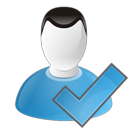 user, check icon