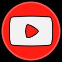 social, media, youtube icon