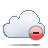 delete, cloud icon