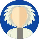 person, emmett brown, doc, cientist, doctor brown, people, back to the future icon