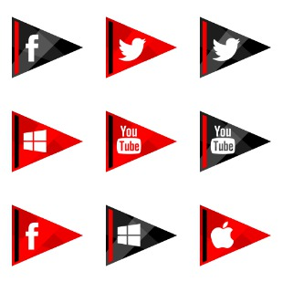 Social Media icon sets preview