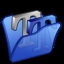 Folder blue font2 icon