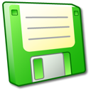 disk, disc, floppy, save, green icon