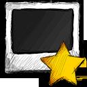starred, photo icon