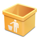 yellow trash empty icon