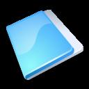 close, no, stop, folder, blue, cancel icon
