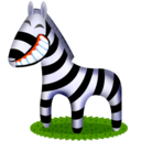 zebra,animal,cartoon icon