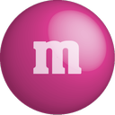 color, chocolate, pink, m&m, colour icon