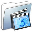 graphite, video, film, folder, movie, smooth icon