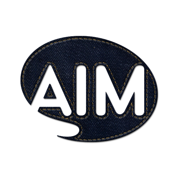 social, denim, jean, aim icon