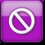 noentry, purplestyle icon