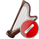 arpa,cancel,instrument icon