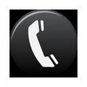 tel, telephone, black, phone icon