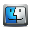 mettalic, finder, apple, mac os x, face icon