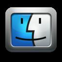 mettalic, finder, apple, mac os x, face icon